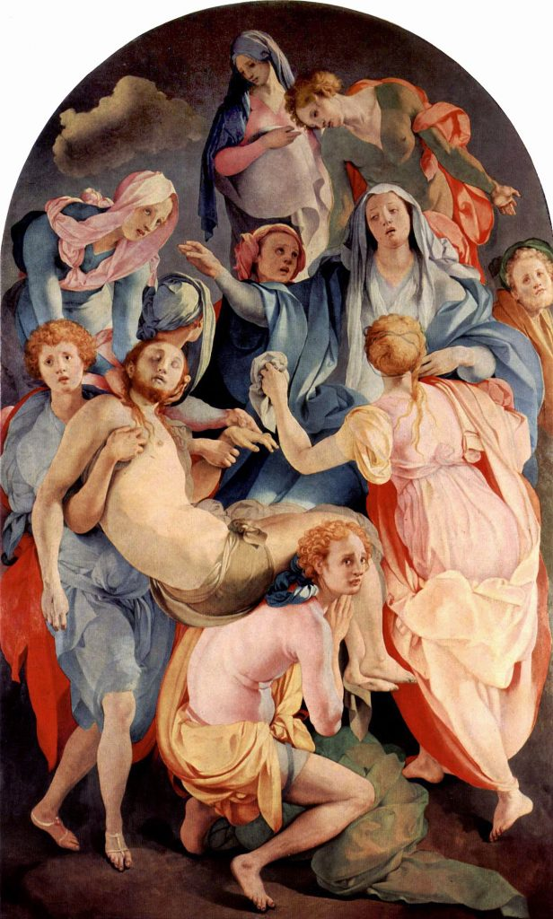 In The Deposition From the Cross, Jacopo Pontormo gives an unconventional take on the deposition of Christ.