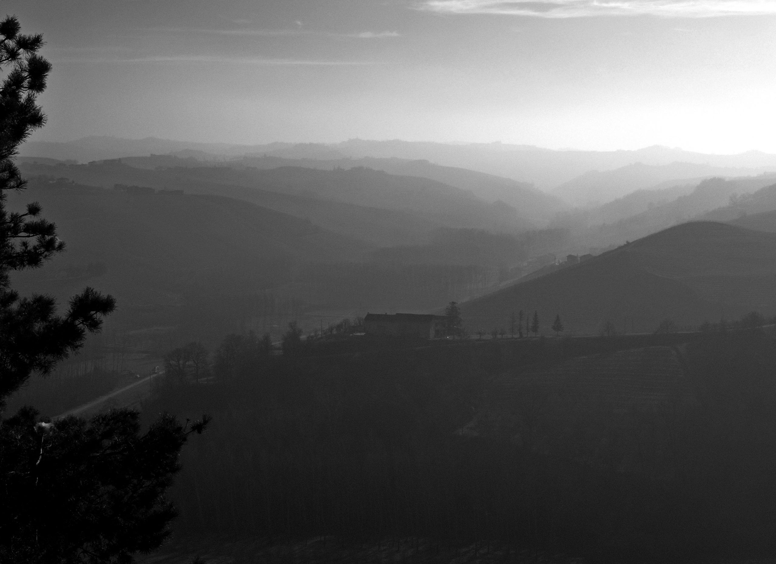 View from La Morra, Piedmont, Italy.