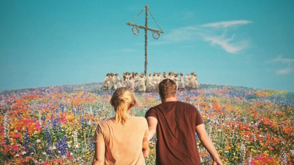 Midsommar - a boy and a girl walking together
