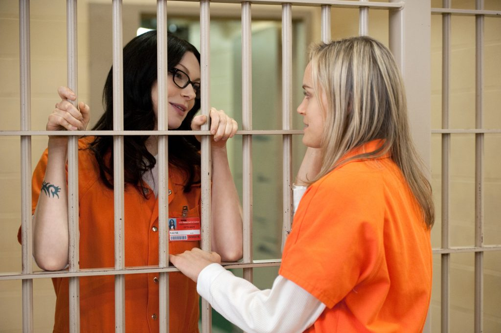 Orange is the New Black's main characters, Pepper and Alex