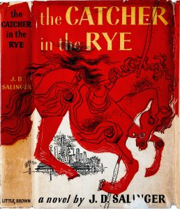The Catcher in the Rye by J.D. Salinger. First-edition cover by Michael Mitchell, 1951,