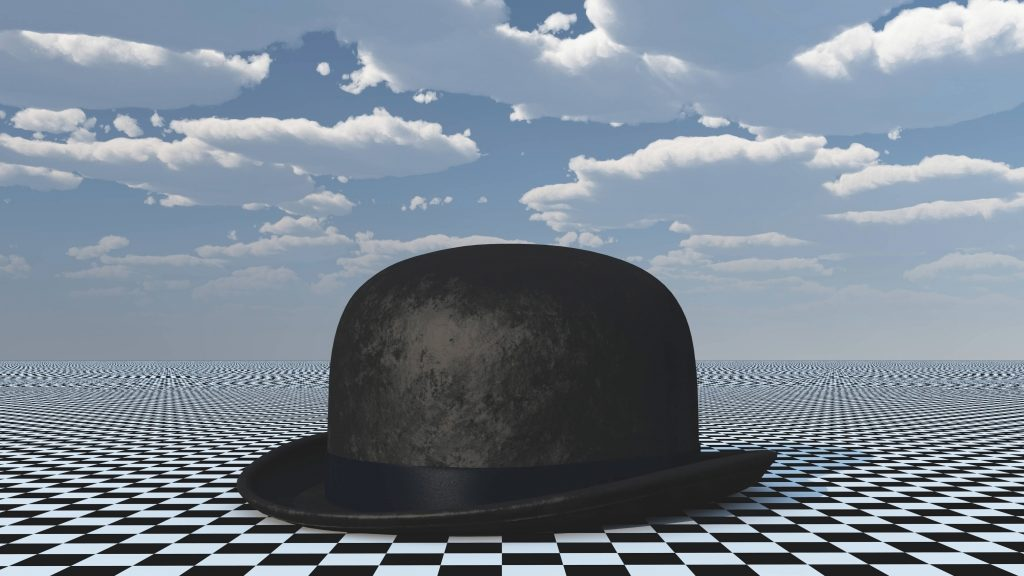 Classic Bowler Hat on Chessboard