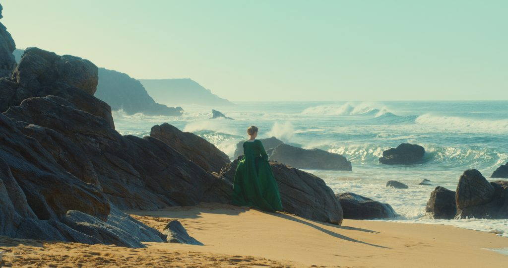 Lady on a beach - scene from the film Portrait of a Lady on Fire