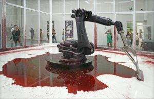 """Photo of the installation """"Can't Help Myself"""" at the Venice Biennale"""