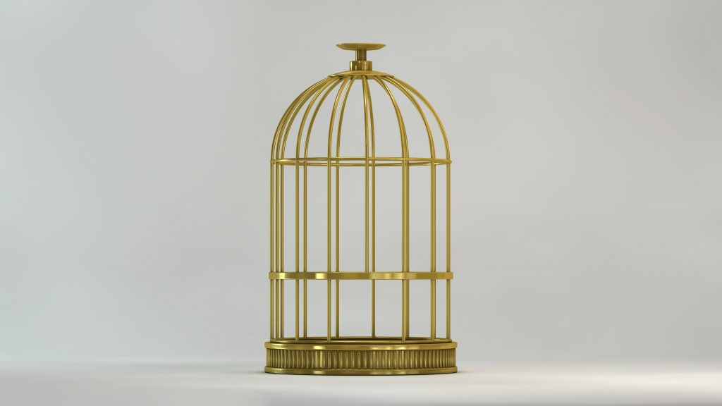 Gold cage, courtesy of Images Rouges via Adobe Stock