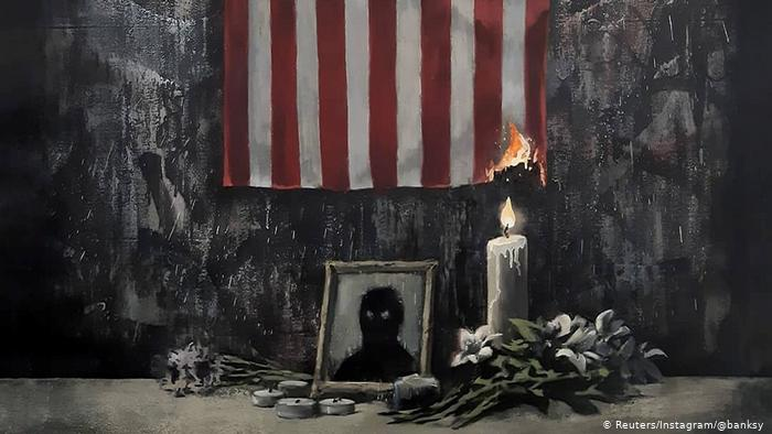 British artist Banksy released his BLM Painting in June 2020 in support of the Black Lives Matter movement and the protests following George Floyd's death.