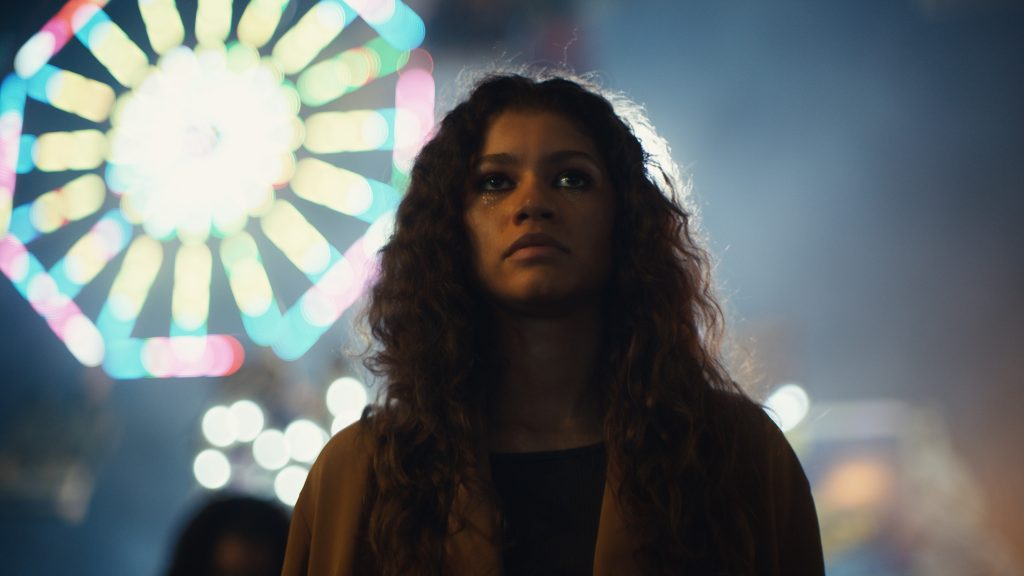Still from Euphoria of Zendaya