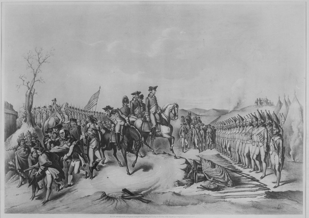Copy of a Lithograph of Surrender of Hessian Troops during the American Civil War