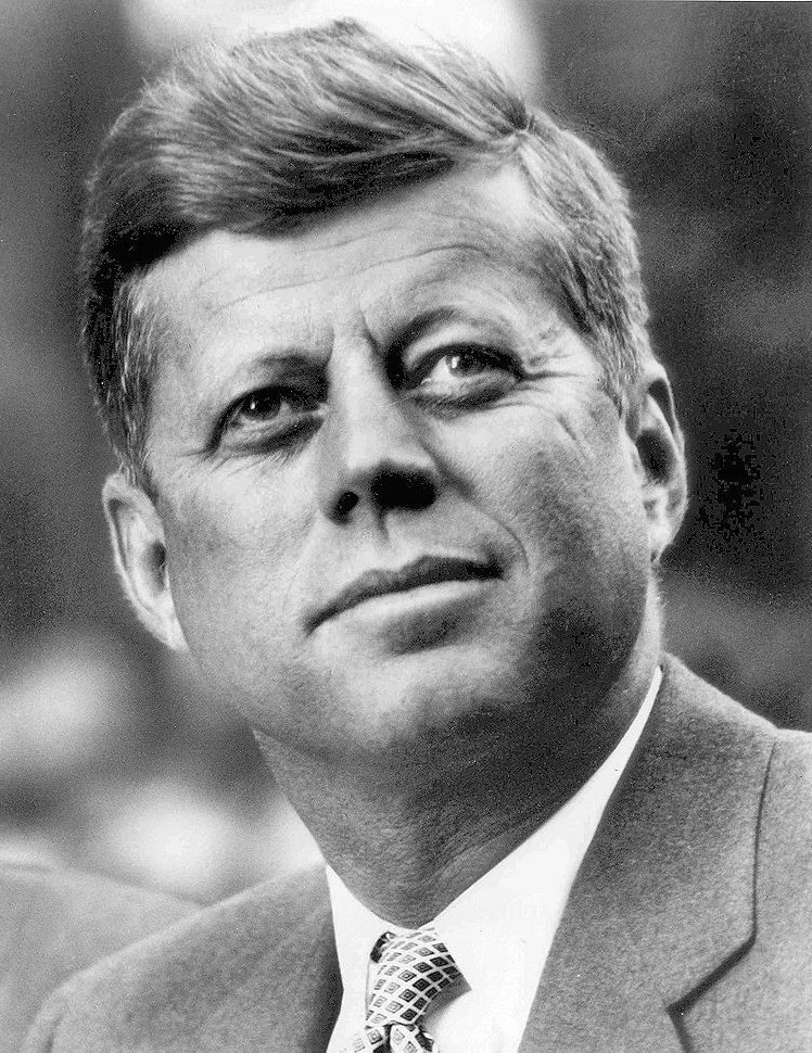 Primary - Black and White photo of John F Kennedy
