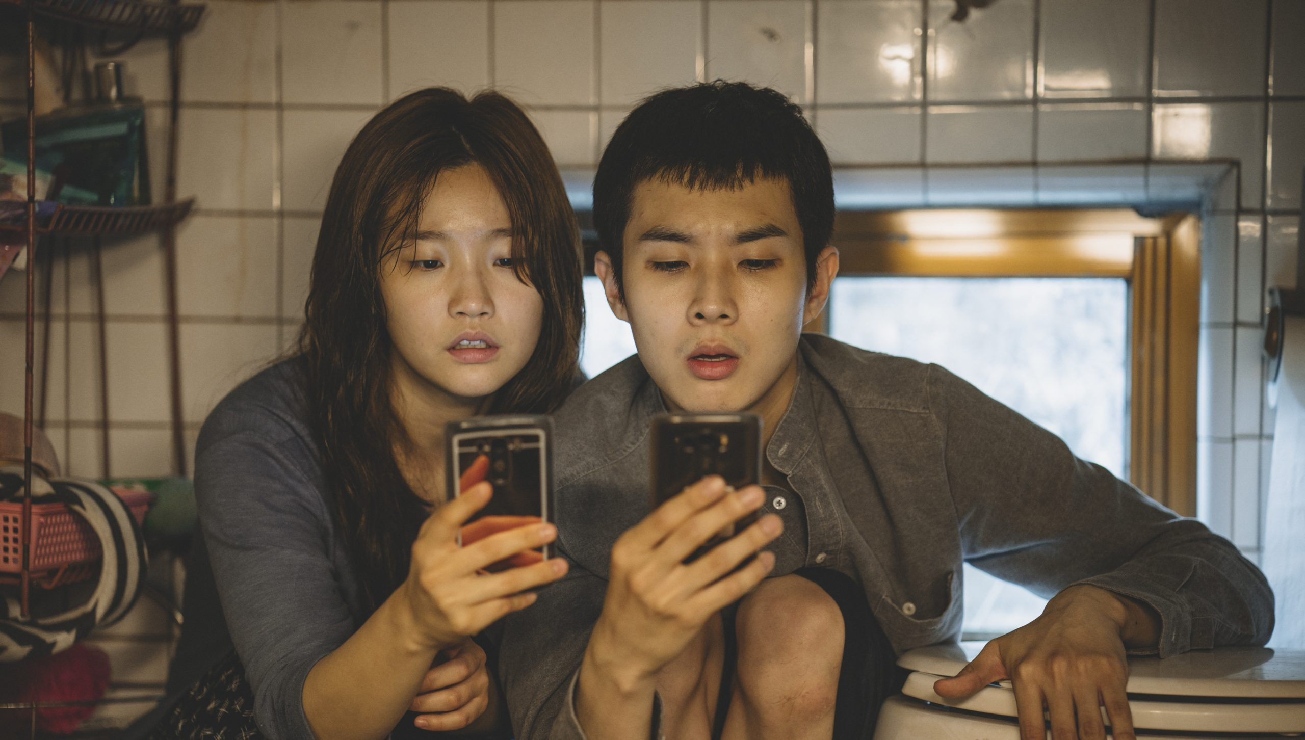 Two protagonists from the film Parasite