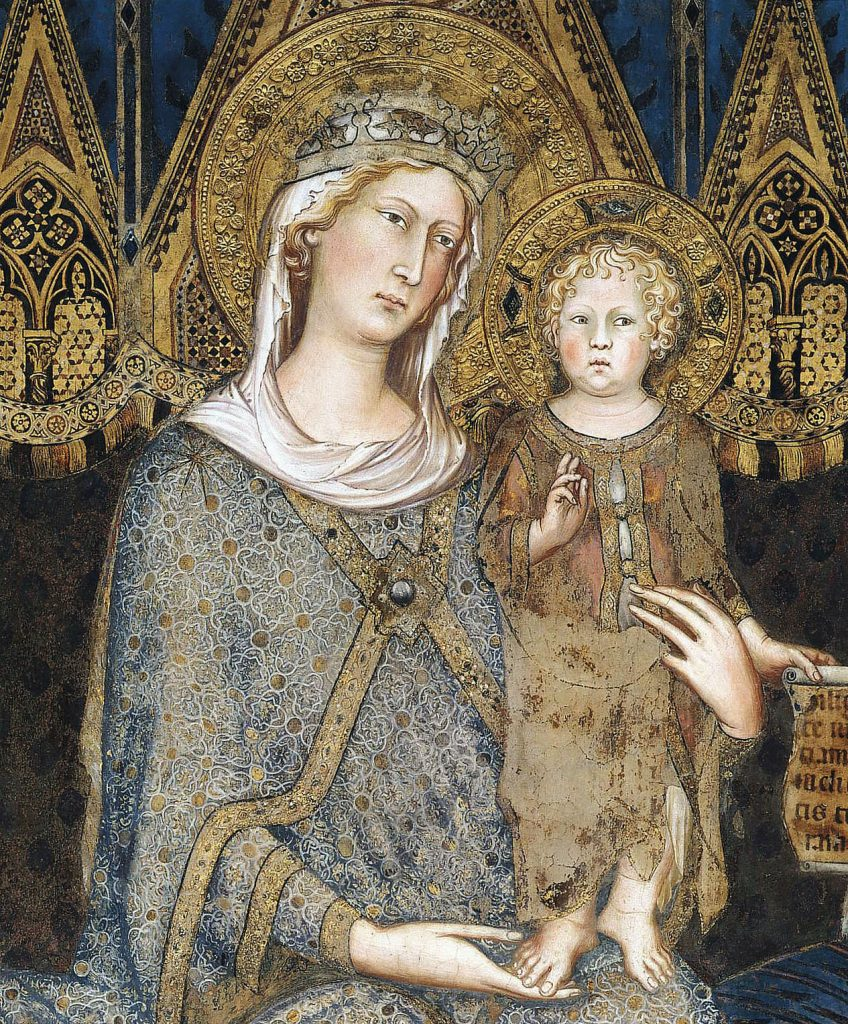The Virgin Mary with the child Jesus.