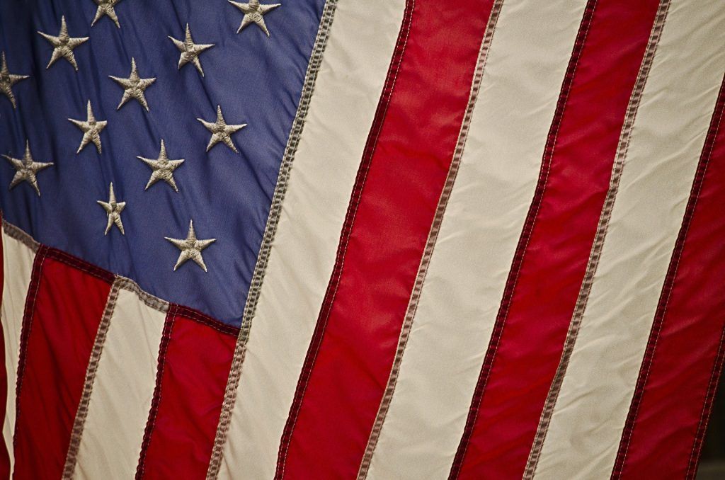 The Candidate - Closeup on the American Flag