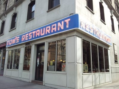 Tom's Restaurant in New York.