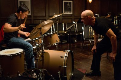 Andrew being screamed at by Fletcher while playing in Whiplash