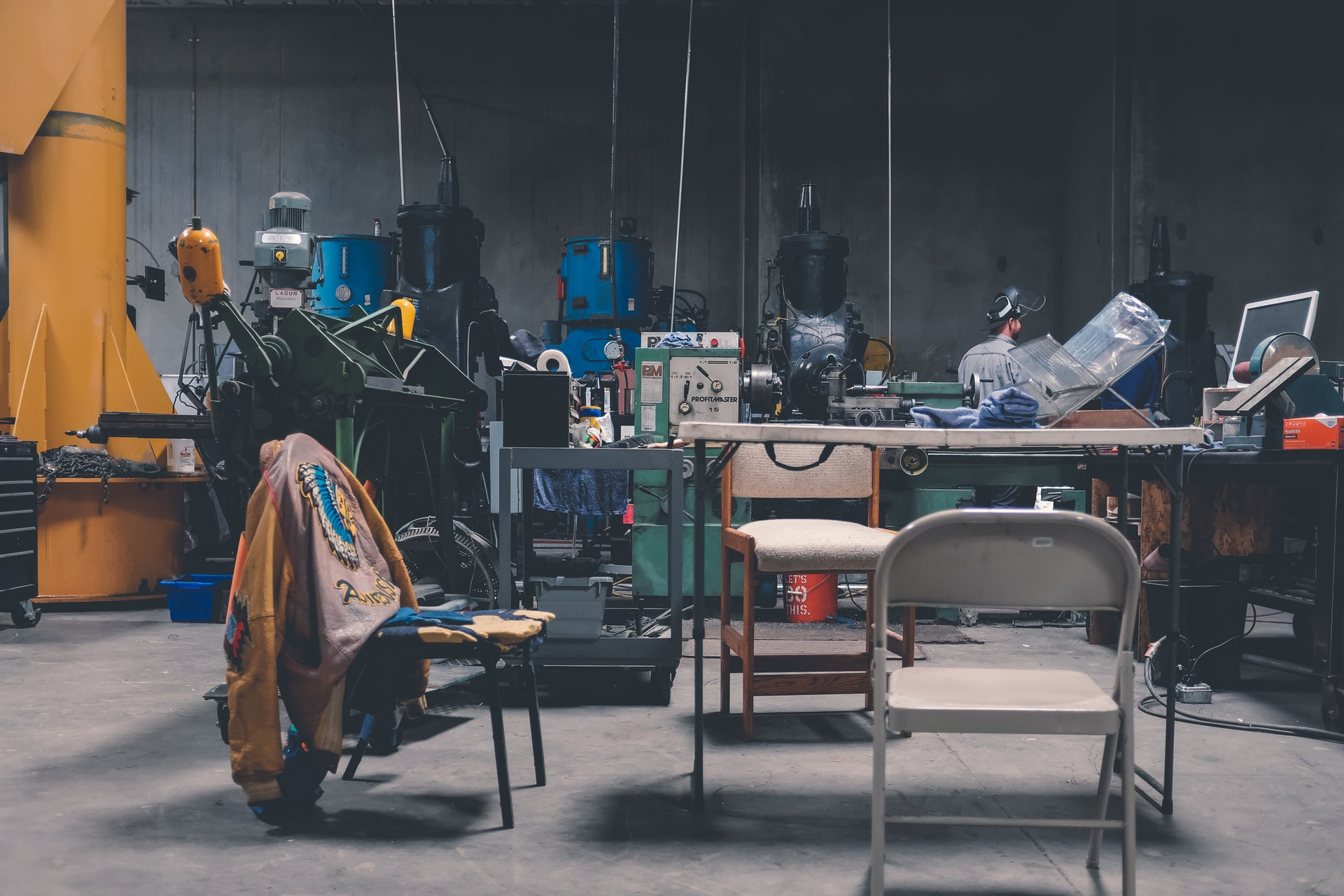 magine courtesy of NeONBRAND via Unsplash. This photo represents a garage crowded with things that fit with Salnted & Enchanted as it was recorded ina similar setting