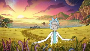 Rick appreciating the little things in season 4 of Rick and Morty.
