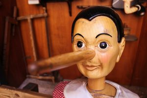 A real Pinocchio resembling marionette