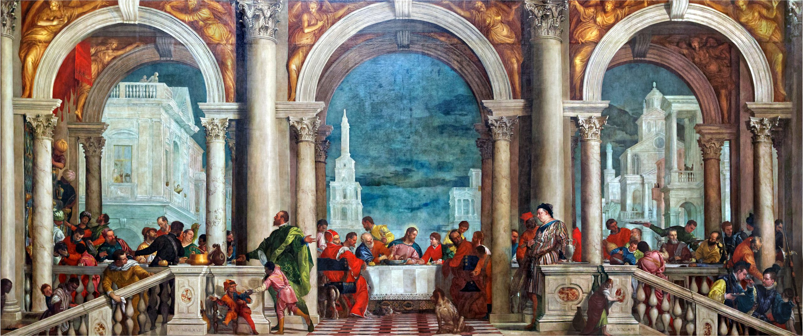 The Feast in the House of Levi - The colorful and crowded scene