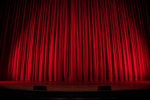 Glee Red Curtains