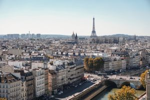 Clichés & the City with Emily in Paris - A view of Paris from a rooftop in daytime