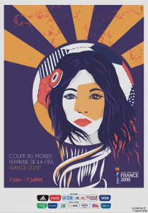 The Official Poster for the FIFA Women's World Cup France 2019 was unveiled in Paris on Friday to coincide with International Women's Day.