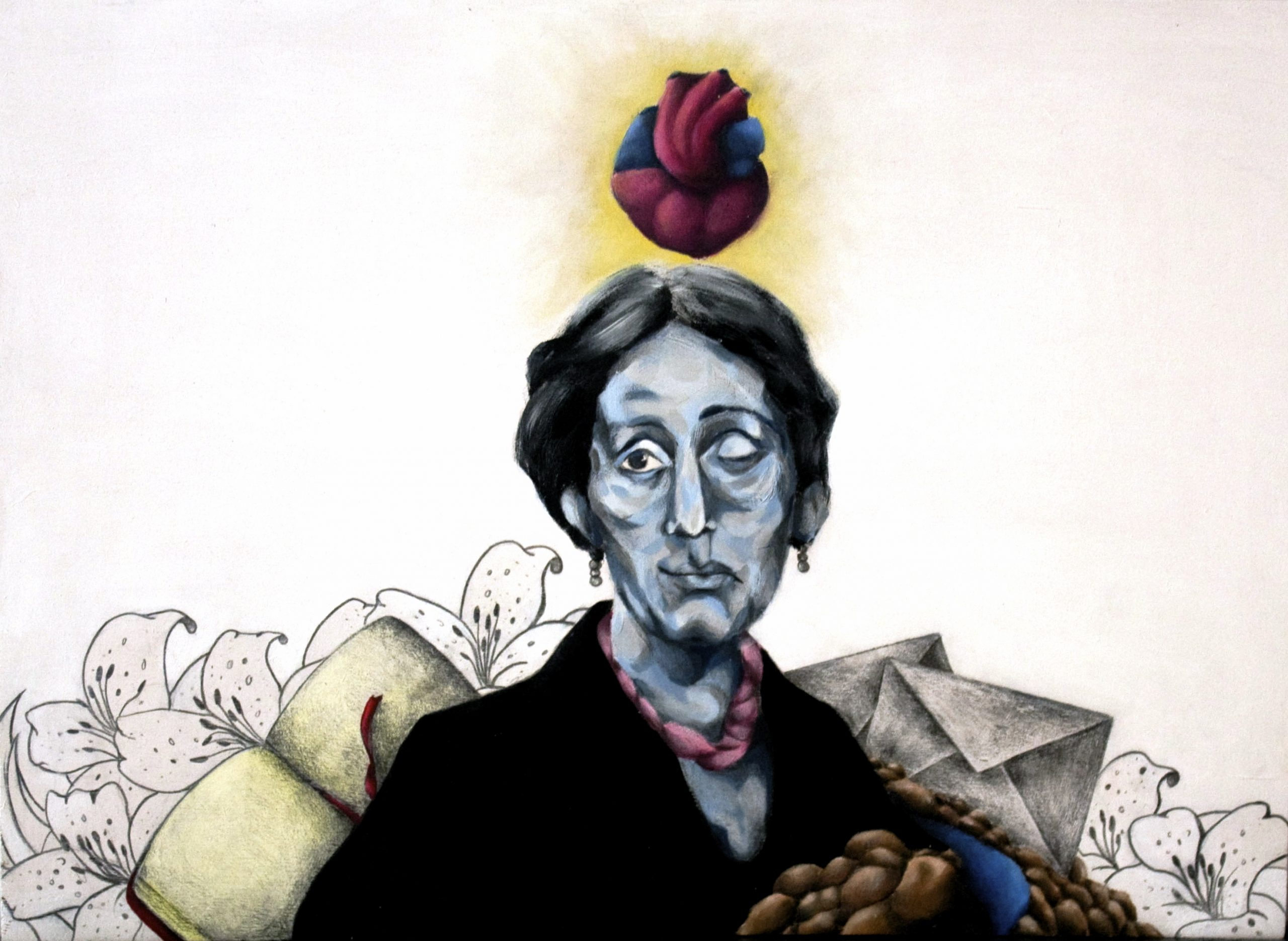 A portait of the author of Mrs Dalloway, Virginia Woolf.